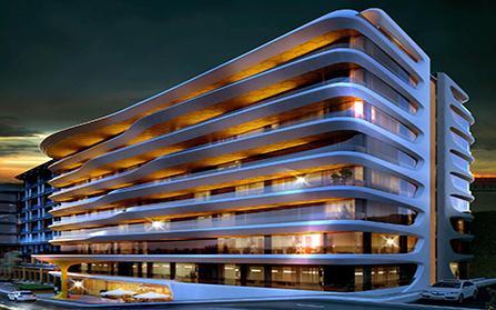 Здание с жилыми и коммерческими объектами в Стамбуле, Турция