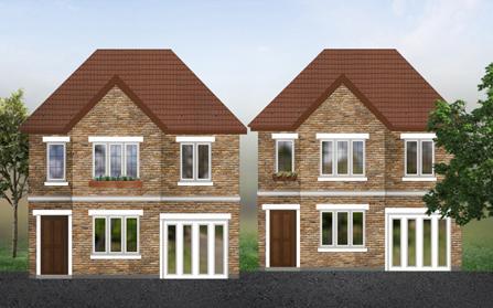 Двухэтажные дома «Cobham»,Лондон
