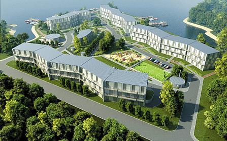 Жилой комплекс на полуострове Грапью, Рига, Латвия