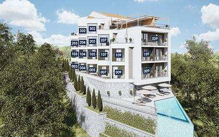 Продажа квартир с потрясающим видом на залив в муниципалитете Тиват, Черногория